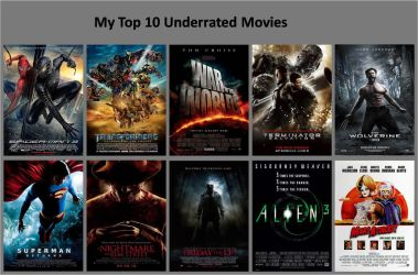 My Top 10 Underrated Movies by xxphilipshow547xx