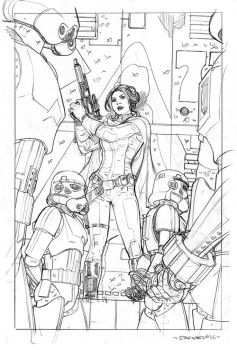 Star Wars #16 Cover Pencils by TerryDodson