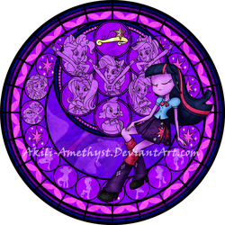 Stained Glass: Equestria Girls -Vector- by Akili-Amethyst
