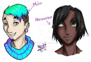 Mike and Alexander by Noshi-Chan