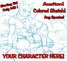 SeaSide Warrior YCH Male Colored Sketch Auction by lady-cybercat