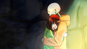 I'm sorry I was late~Papyrus x Chara [underswap] by mysticPenguin04