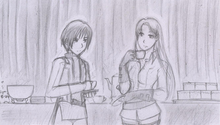 Suikoden III :: Tea Time by vikifanatic