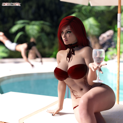 Pool Party Katarina by Cdcnk3D