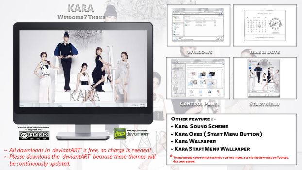[2013 Theme] KARA Kpop for Windows 7 by HKK98