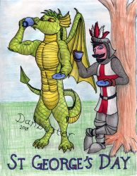 St George's Day 2018 by DCLeadboot