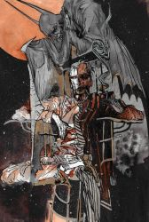 Twoface + Batman for d00li by saprophilous