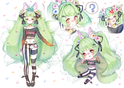 CLOSED Spooky Nine Tailed Kitsune Adopt by CritterPunk