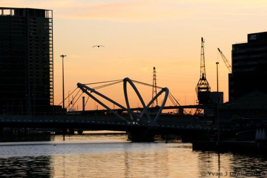 Sunset over the Seafearers' Bridge IMG_1416 by MrYJDrake