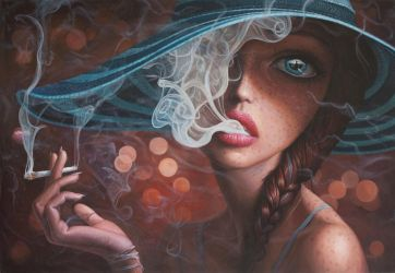 Enter The Void - oil painting by borda