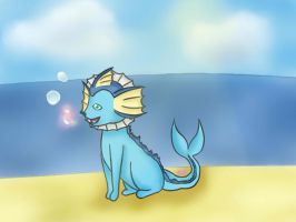 Bubble the Vaporeon by xela1234