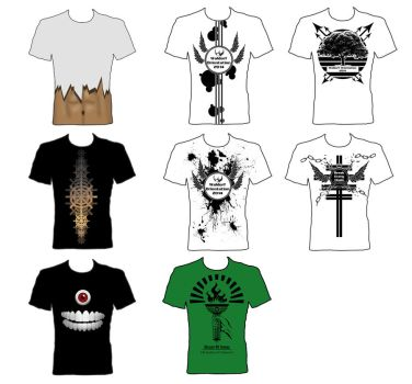 T-Shirt designs - grouped by AlexHorakDesigns