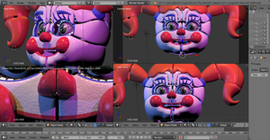Circus Baby WIP - Blender Version by GamesProduction