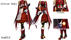 [MMDxFNaF Sister Location] Circus Baby (DL!) by tvall13