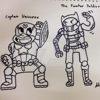 Captain Universe and the Finnter Soldier by GingerBaribuu