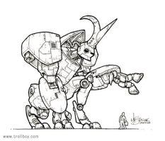Rhino-Beetle Bot by trollboy