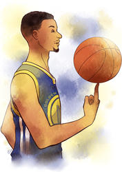 Stephen Curry by Ailish-Lollipop