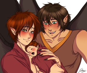 Demons!Spamano - Baby demon by x-Lilou-chan-x