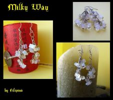 Milk Way earrings by Marchia