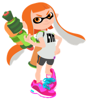 Orange Inkling - Splatoon Vector by firedragonmatty
