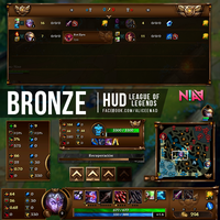 Bronze HUD - League of Legends by AliceeMad