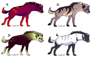 CLOSED - Hyena adopts by LeaAdoptables