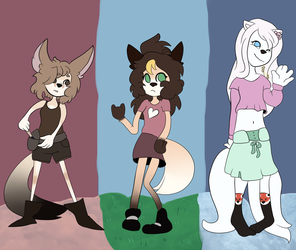 Foxes by FioraSBae