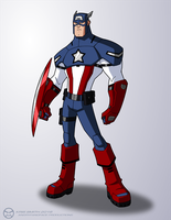 Captain America Redesign - Animation by KrisSmithDW