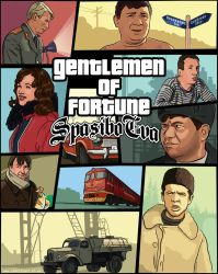 GTA SA parody poster Genlemen of fortune by redfill