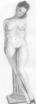Nude study of a leaning lady by MatevzUr