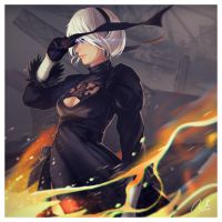 NieR:Automata - 2B by mSppice