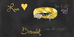 mmd love bracelet and ring by Tehrainbowllama