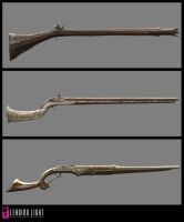 Fable II firearms by PeteAmachree