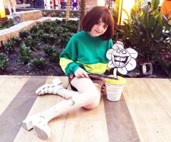 Chara from Undertale (Cosplay) (A-Kon 27) (03) by lost-lillith
