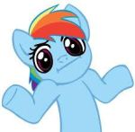 Rainbow Dash Shrug by RainbowDashRocks101