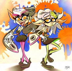 Splatoon - Callie and Marie by Themrock