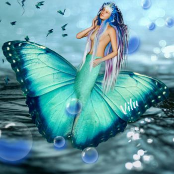 Butterfly Mermaid by vilucm