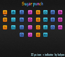 Sugar punch Dock Icons by kalyon