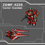 Pixelart - SD Savior Gundam by Cecihoney