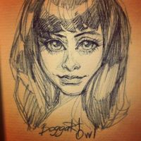 Sketch girl by BoggartOwl