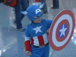 Cutest Little Captain America by nightwindwolf95