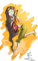 marceline flcl doodle by DeliciousAlmonds