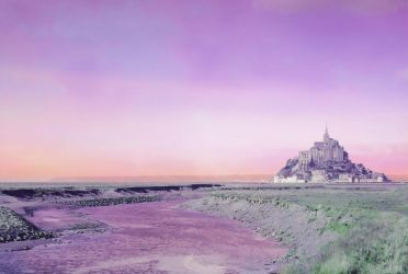 Mauve Daydream in Mont-Saint-Michel by valmont1702