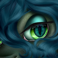 Pony Eye Series: Queen Chrysalis by Crazyaniknowit