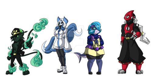 Twin Tails - Cast Page 1 by FlairNightz