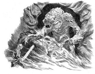 Luke vs The Rancor by DugNation