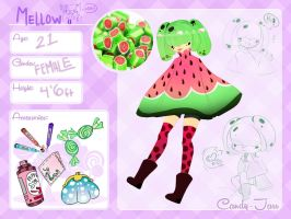 Candy-Jarr|| Mellow || Character Sheet by CandidFox