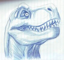 T Rex sketch by xlion95