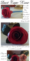 Duct Tape Rose by FreckledAndFearless