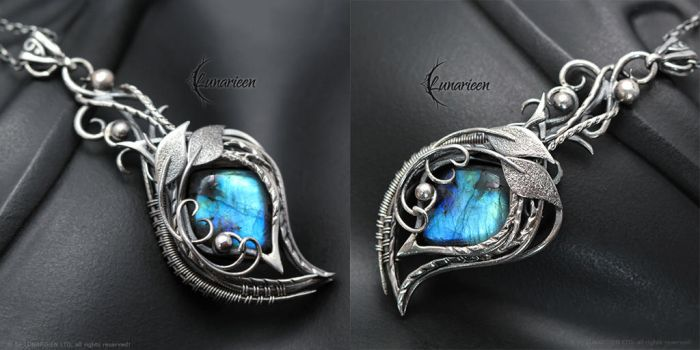 ENHTERIA FYARL - Silver and Labradorite by LUNARIEEN